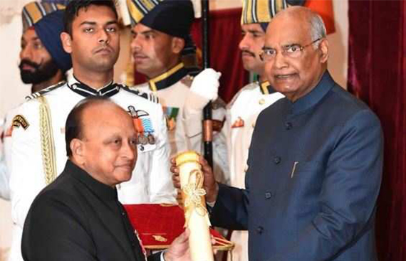 Dr. R.V. Ramani Receives 'Padma Shri' for his Services in Medical Field