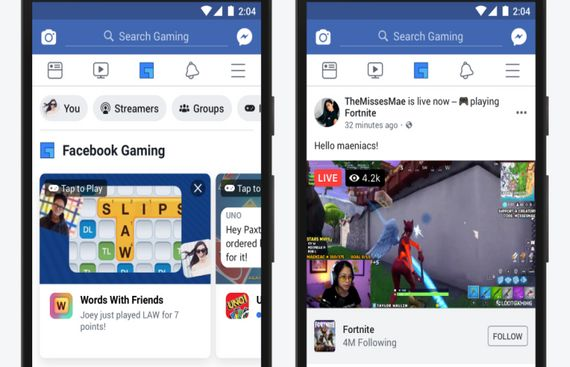 Facebook rolling out gaming tab on app