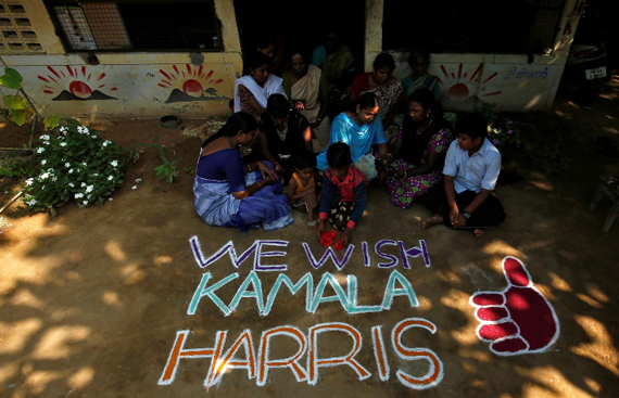 Harris's ancestral village in India gets festive as Biden leads count