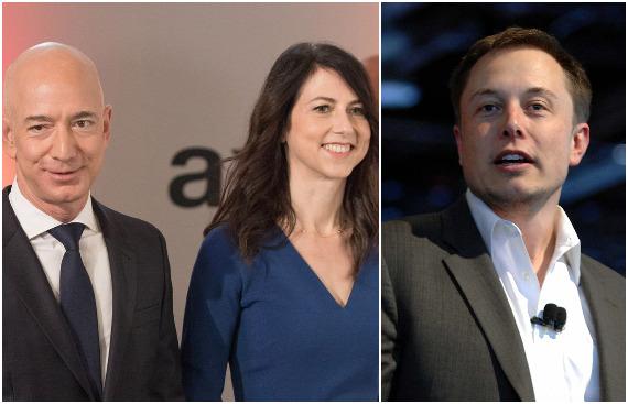 A Phenomenal Spike in Personal Wealth of Three of the World's Richest People - Jeff Bezos, MacKenzie Scott & Elon Musk