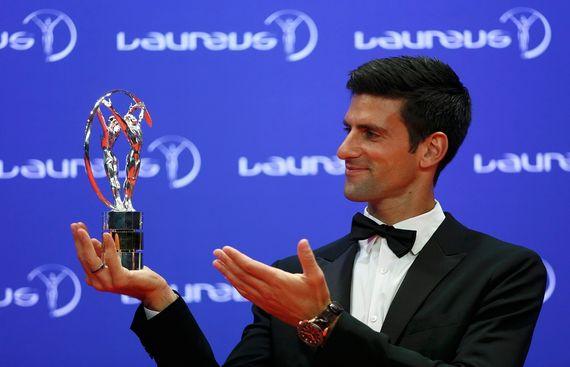 Djokovic, Biles win Laureus Sports awards