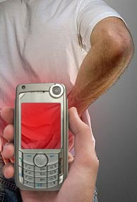 Mobile phone chip to help back pain