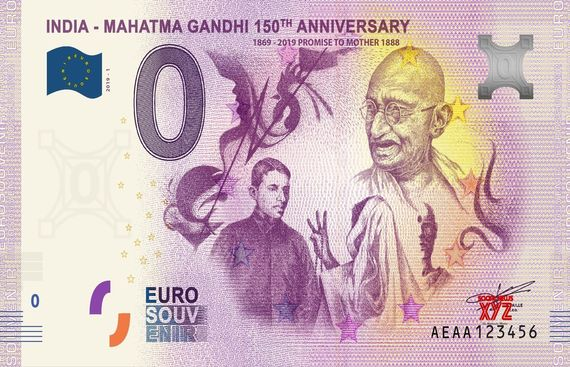Numisbing Releases Limited Edition Euro Souvenir Indian Notes to Mark Mahatma Gandhi's 150th Birth Anniversary
