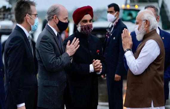 PM Narendra Modi lands in US to take part in First in-person Quad leaders' Summit
