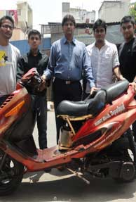 Engineering students develop 110 km/liter diesel bike