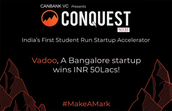 Vadoo, Bengaluru StartUp Wins Rs. 50 Lakhs from India's Largest Student-run Startup Accelerator Conquest BITS Pilani