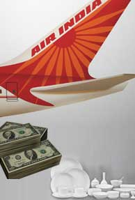 Bailout grieved Air India buys crockery worth Rs.12 Crore
