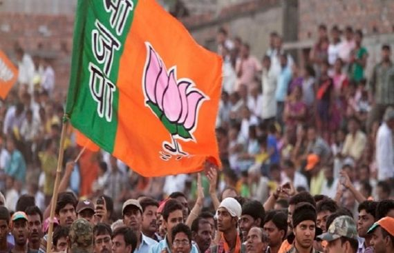 BJP sweeping Lok Sabha polls