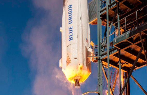Bezos' Blue Origin launches NASA payloads into sub-orbital space