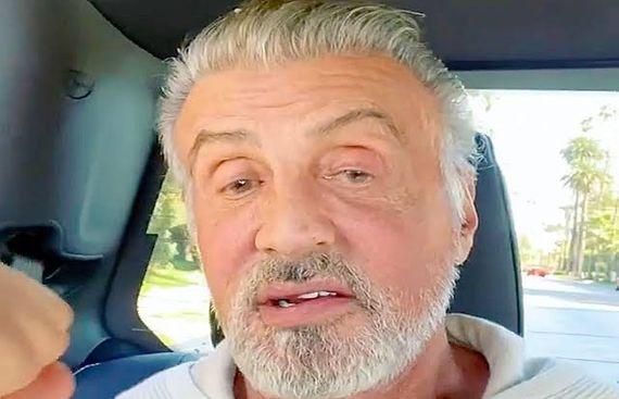 Sylvester Stallone Debuts his Natural Grey Hair
