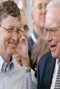Gates, Buffet favour small scale philanthropy