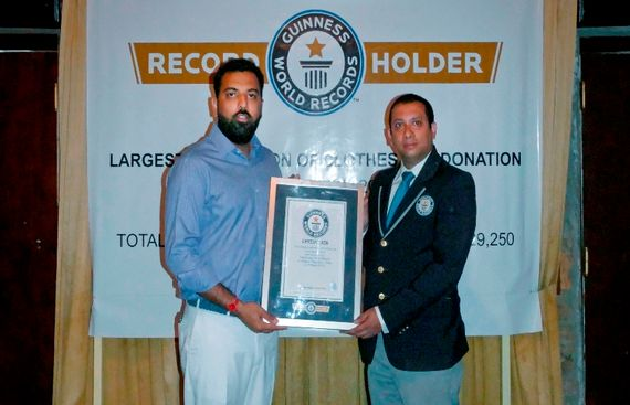 Udaipur�s Prince Lakshyaraj Singh Mewar Receives the Guinness Book of World Record Honours