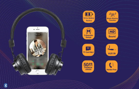 Zoook JAZZ DUO - An app based convertible Bluetooth Headphone + Bluetooth Speaker launched in India