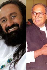 Sri Sri Ravi Shankar Hits Back at Digvijaya