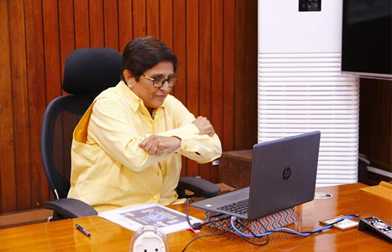 Dr. Kiran Bedi Talks About Leadership In The Time Of Crisis In A Candid Virtual Chat With Vertica Dvivedi, Founder Wade Asia