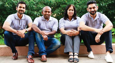 Suvendu Prusty, Vidya Sridharan, Sorabh Bhandari & Chiranth Patil,Co-Founders