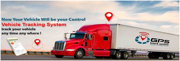 red white truck vehicle tracking system