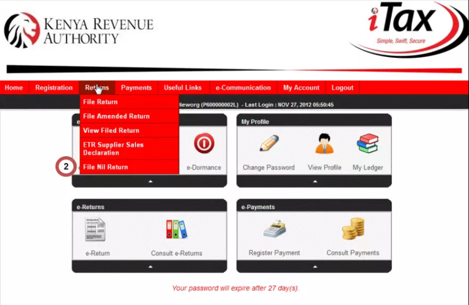 How to file KRA nil returns