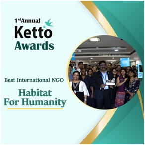 Best International NGO of the Year ? Habitat For Humanity