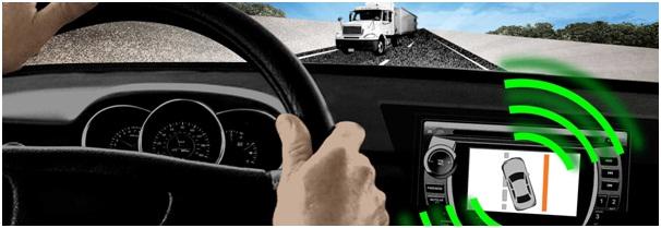 car interior lane departure warning