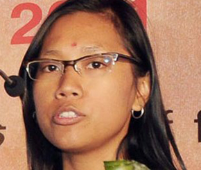 Agatha Sangma debuted in Indian politics in the 15th Lok Sabha