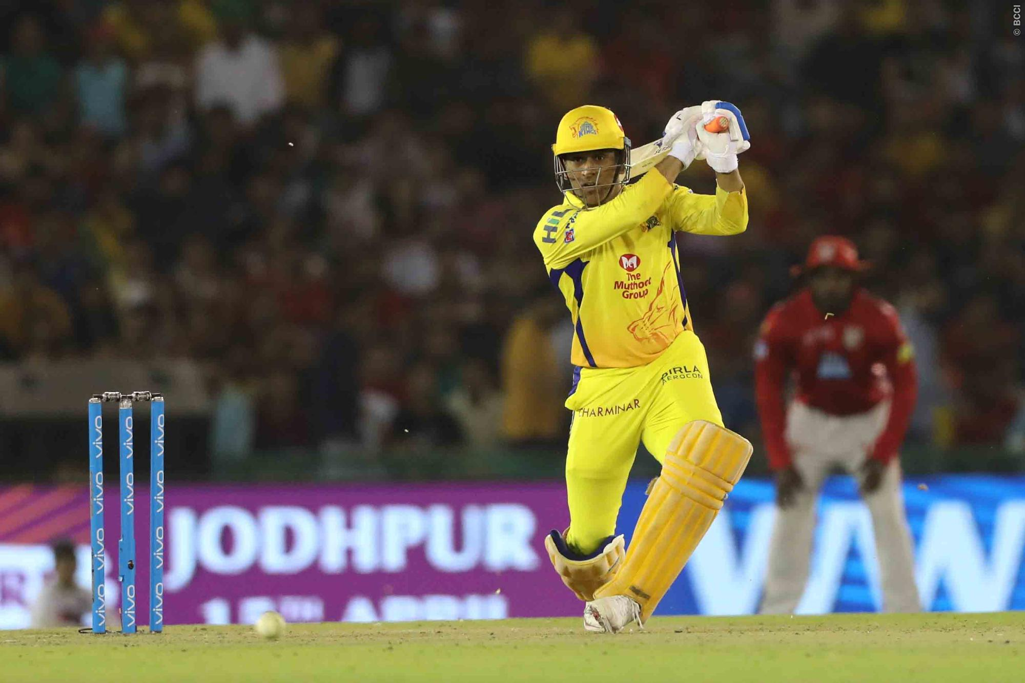 MS Dhoni playing for chennai super kings