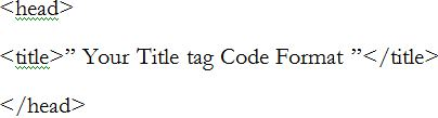 html code title tag