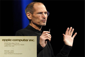 10 most famous business cards of legends 10 steve jobs colourmoves