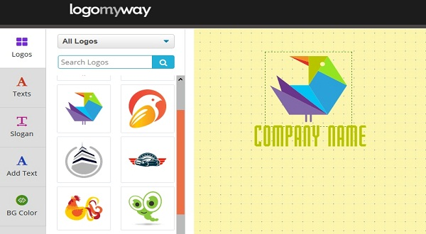 Here's an example of how your LogoMyWay icon would look during editing: