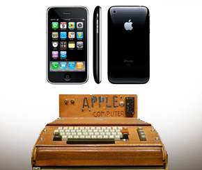 apple, before and now