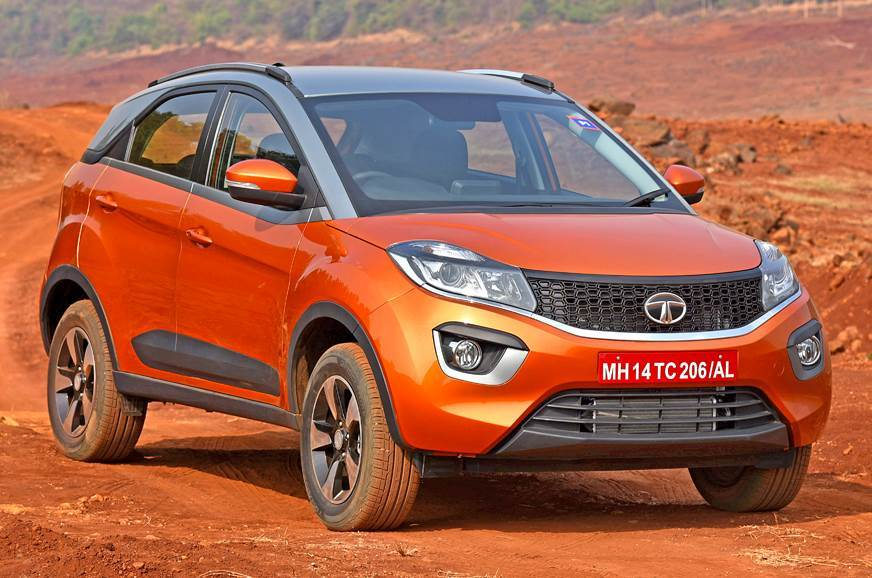 2018 Tata Nexon orange front angle