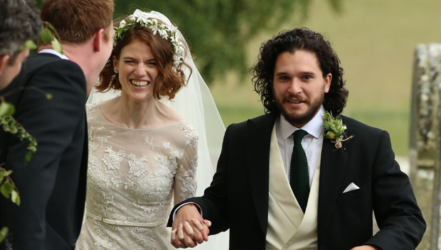 Got Stars Kit Harington Rose Leslie Get Married