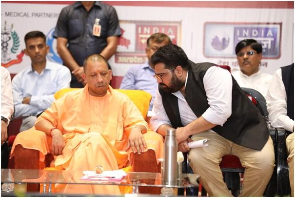 Kartikeya Sharma Founder of iTV Network with Shri Yogi Adityanath
