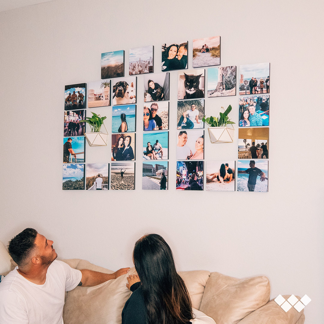 Decorate Your Walls with Wallpics Stickable Photo Tiles