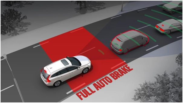 car with automatic emergency braking