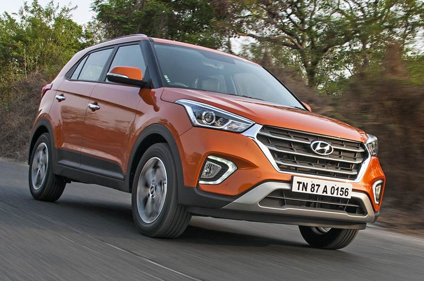 2018 Hyundai Creta orange front angle