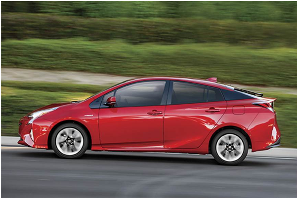 2016 Toyota Prius red side profile