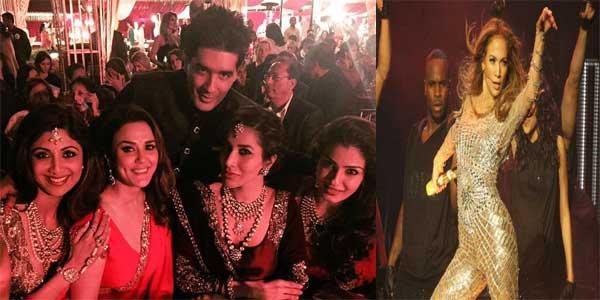 J. Lo in Sanjay Hinduja's Wedding