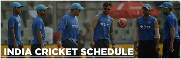 Team India has a hectic cricket schedule for next 12 months