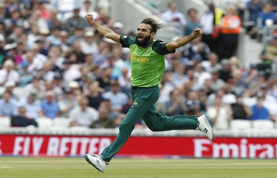 Tahir becomes 1st spinner to bowl opening over at WC