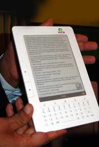 Wink plans to launch eBook reader for Rs. 6000