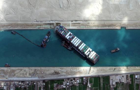 The ship that blocked the Suez for 6 days freed