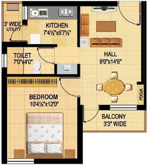500 Sq Ft House Plans 2 Bedrooms In India | Carpetcleaningvirginia.com