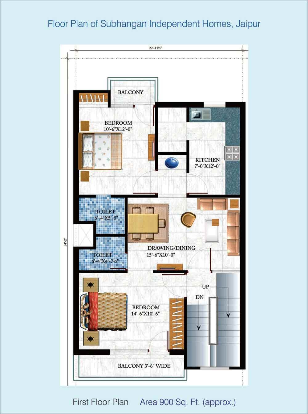 Omaxe city by omaxe 1 3 bhk residential apartment in for 900 sq ft apartment floor plan