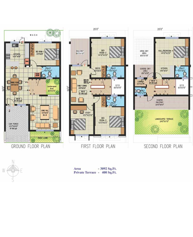 Row houses floor plans india gurus floor for Row house plans india