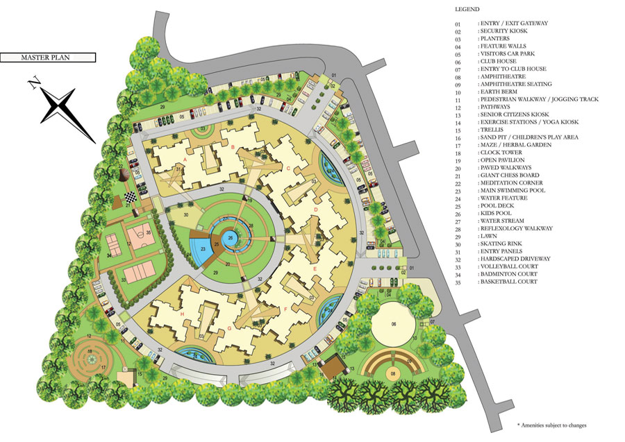 Ozone evergreens 2 3 bhk new residential apartments for for Apartment master plans
