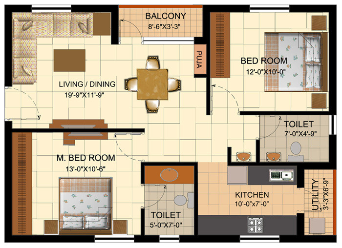 Outstanding House Plans India With Pooja Room Pictures - Exterior ...