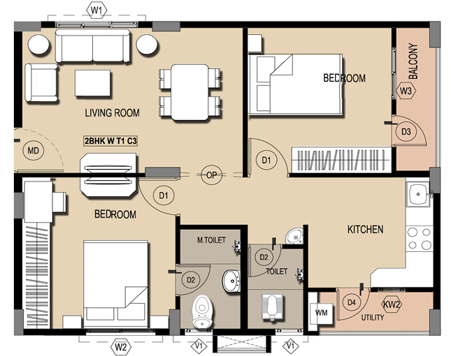 Vasathi Anandi 2 3 Bhk New Residential Apartments For