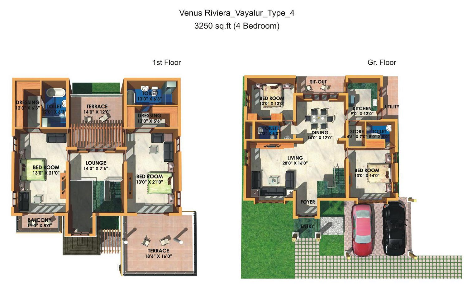 Floor Plan Venus Riviera I