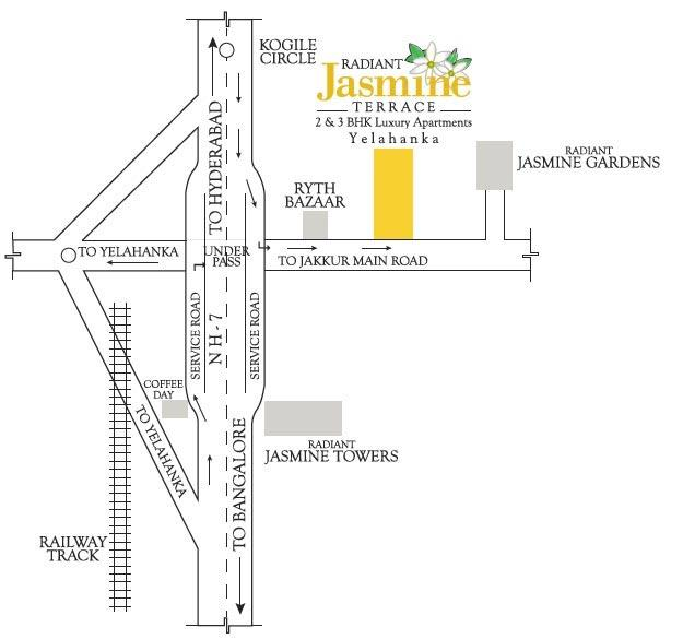 Location map radiant jasmine terrace real estate for Terrace youth residential services